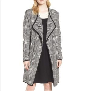 NWT! Vince Camuto Houndstooth Draped Cardigan